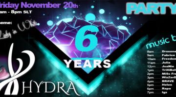 Happy Birthday HyDrA  °! 6 years  !°